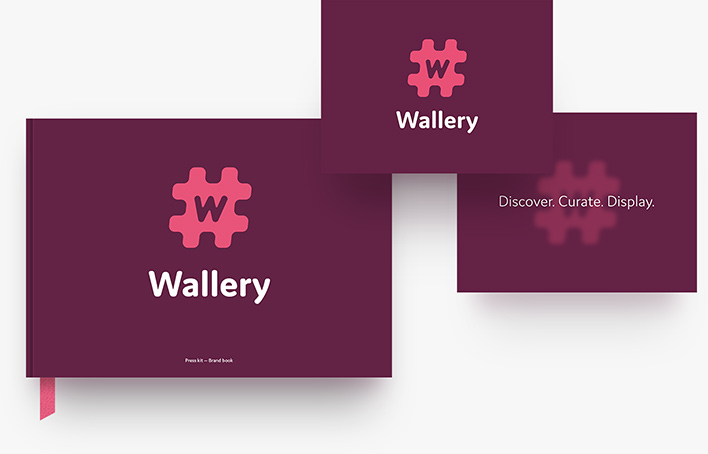 Wallery press kit materials
