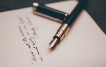 A letter and a fountain pen
