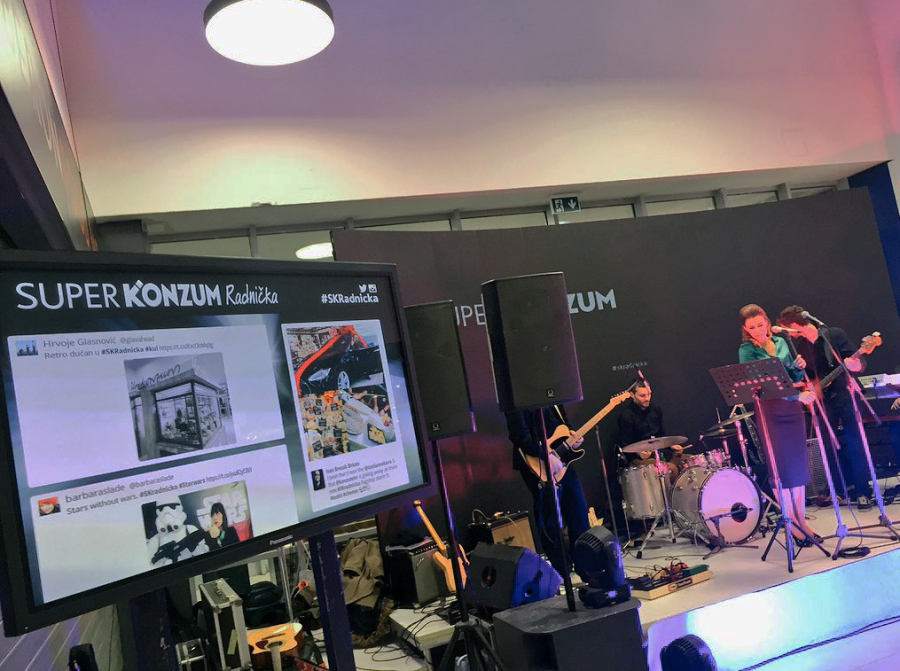 Wallery enticed the crowd at the Super Konzum Radnička afterparty to share their photos from the event on social media