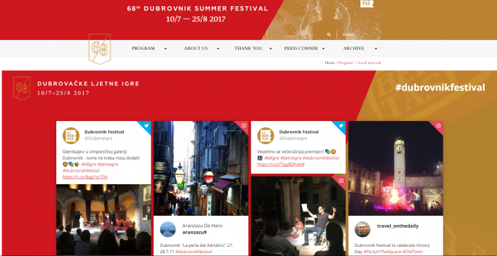 Embed Wallery into your website to showcase the social media conversations you've collected during the event all year round!