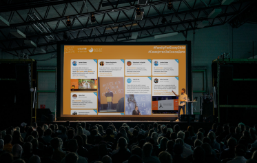 A social media wall is a perfect engagement tool for events